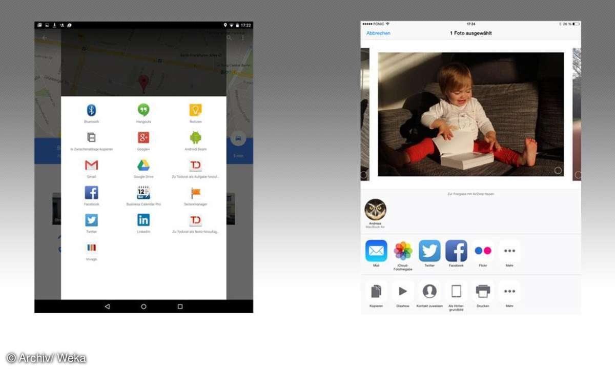 Android vs. iOS: Vernetzung