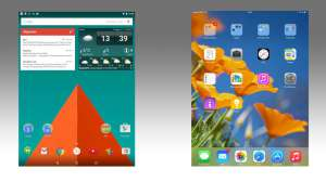 Android vs. iOS: Homescreen