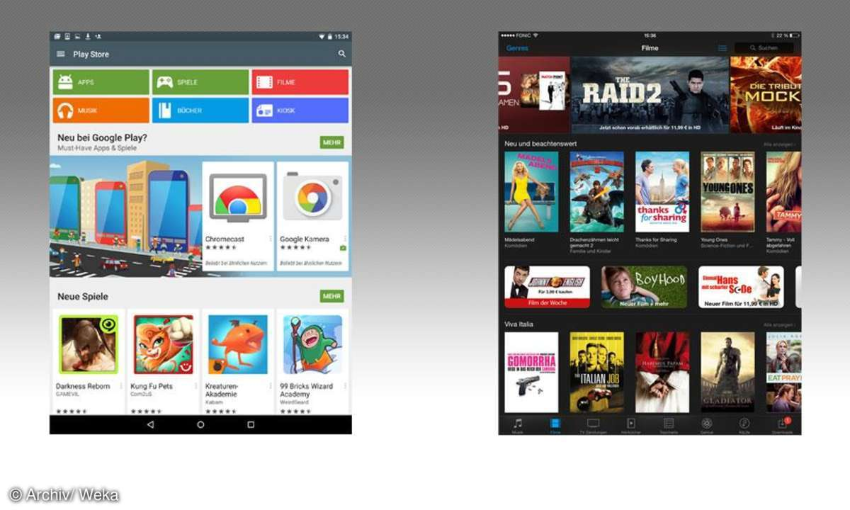Android vs. iOS: Apps & Multimedia