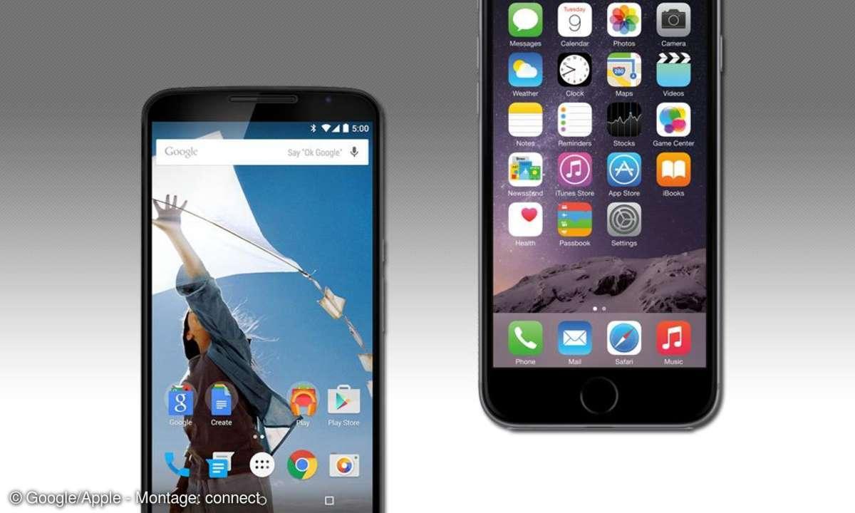 Android vs. iOS - Vergleich