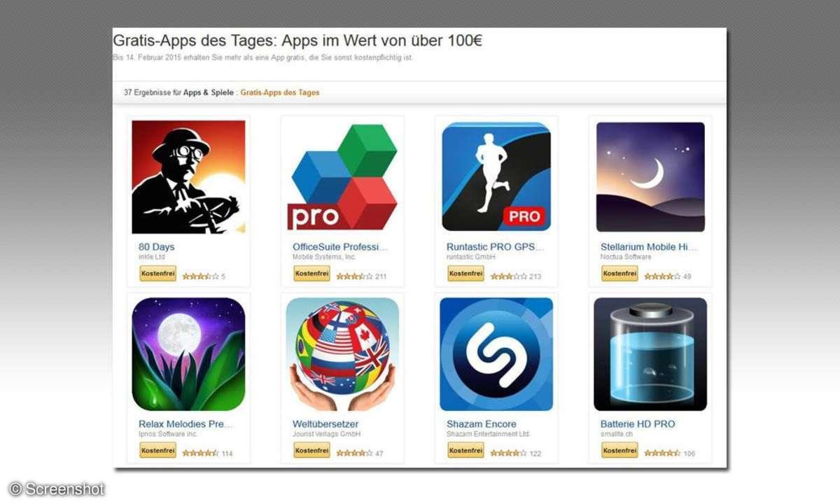 Amazon App Aktion, Gratis