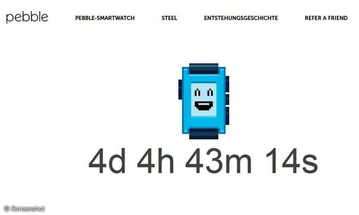 Pebble Countdown-Zähler