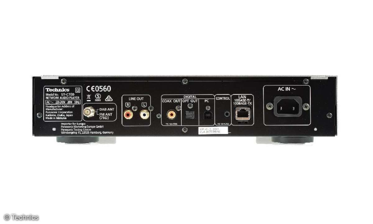 Technics ST-C700 Rückansicht