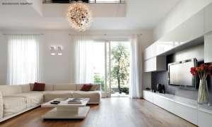 Raum mit schallharten, reflektierenden Flächen
