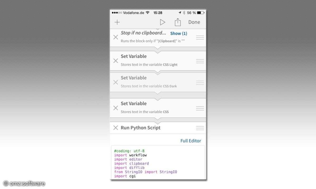 Editorial-App fürs iPhone