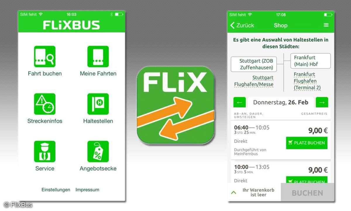 FlixBus App im Test