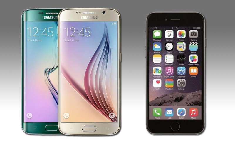 samsung galaxy s6 vergleich iphone 6
