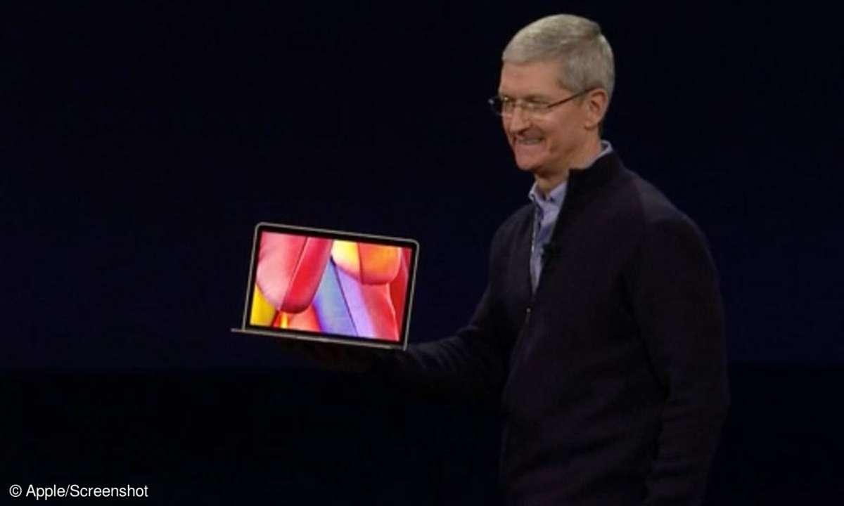 Tim Cook mit MacBook