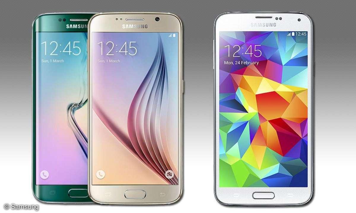 Samsung Galxy S6 Edge, S6, S5