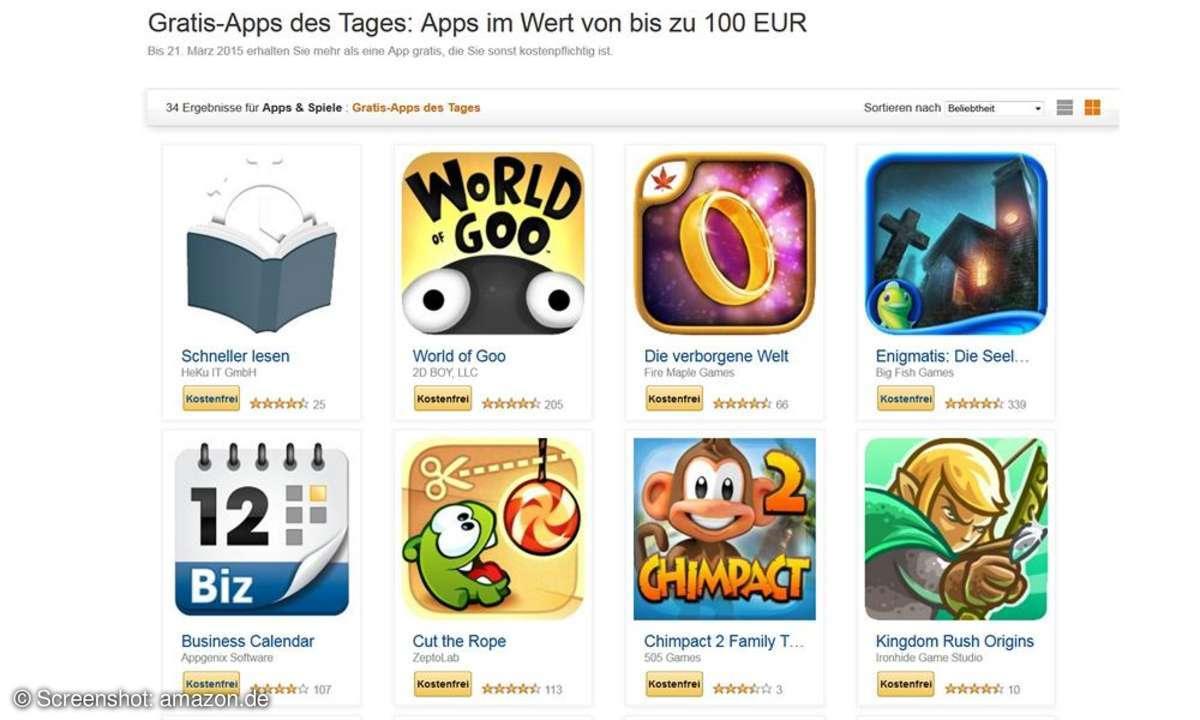 Screenshot: Amazon Gratis-Apps