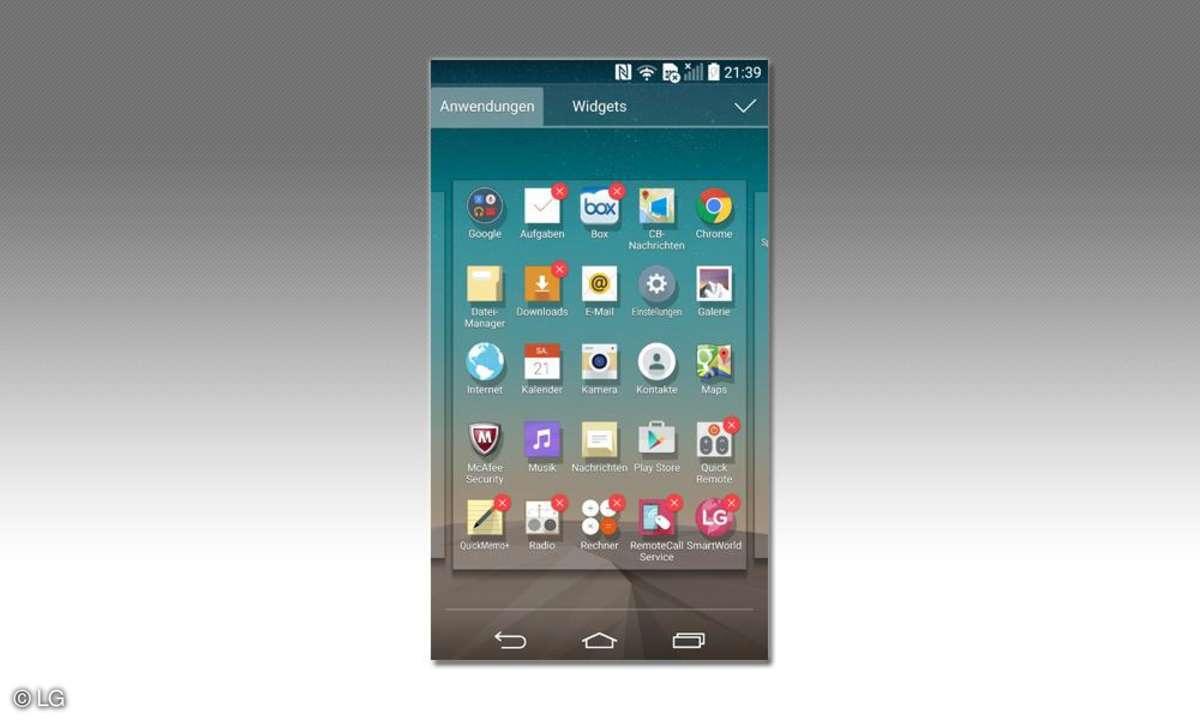 LG Electronic Apps löschen