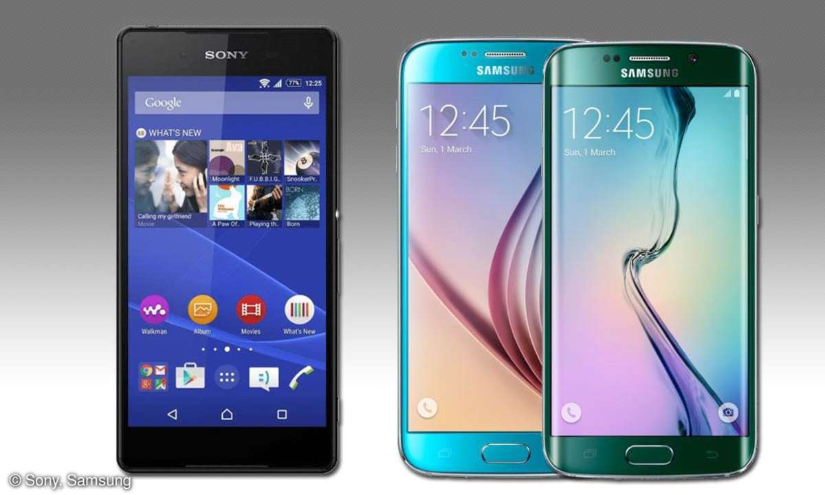 Sony Xperai Z4, Samsung Galaxy S6, S6 Edge