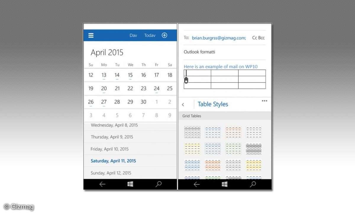 E-Mail und Kalender