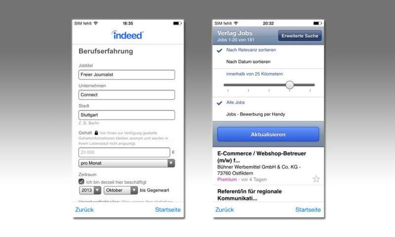 Jobs/Jobsuche-App im Test - connect