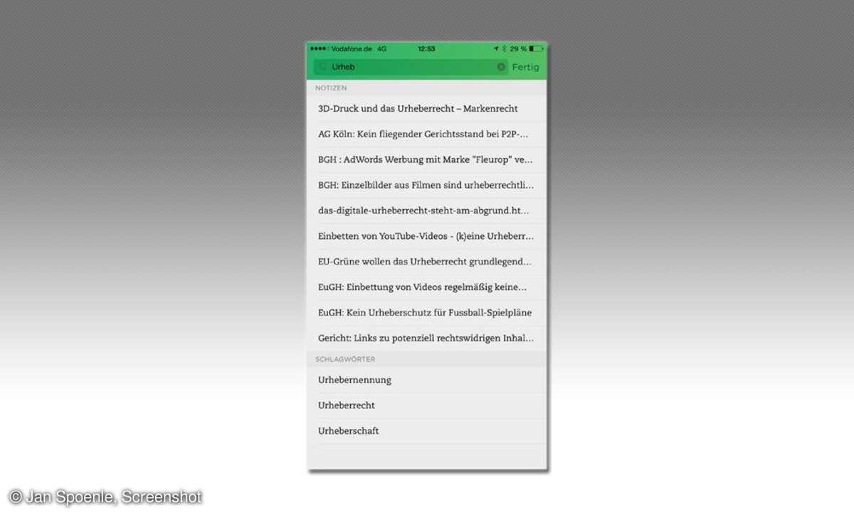 Evernote iOS