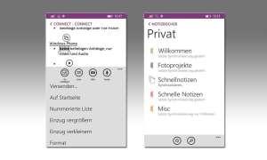 OneNote Windows Phone