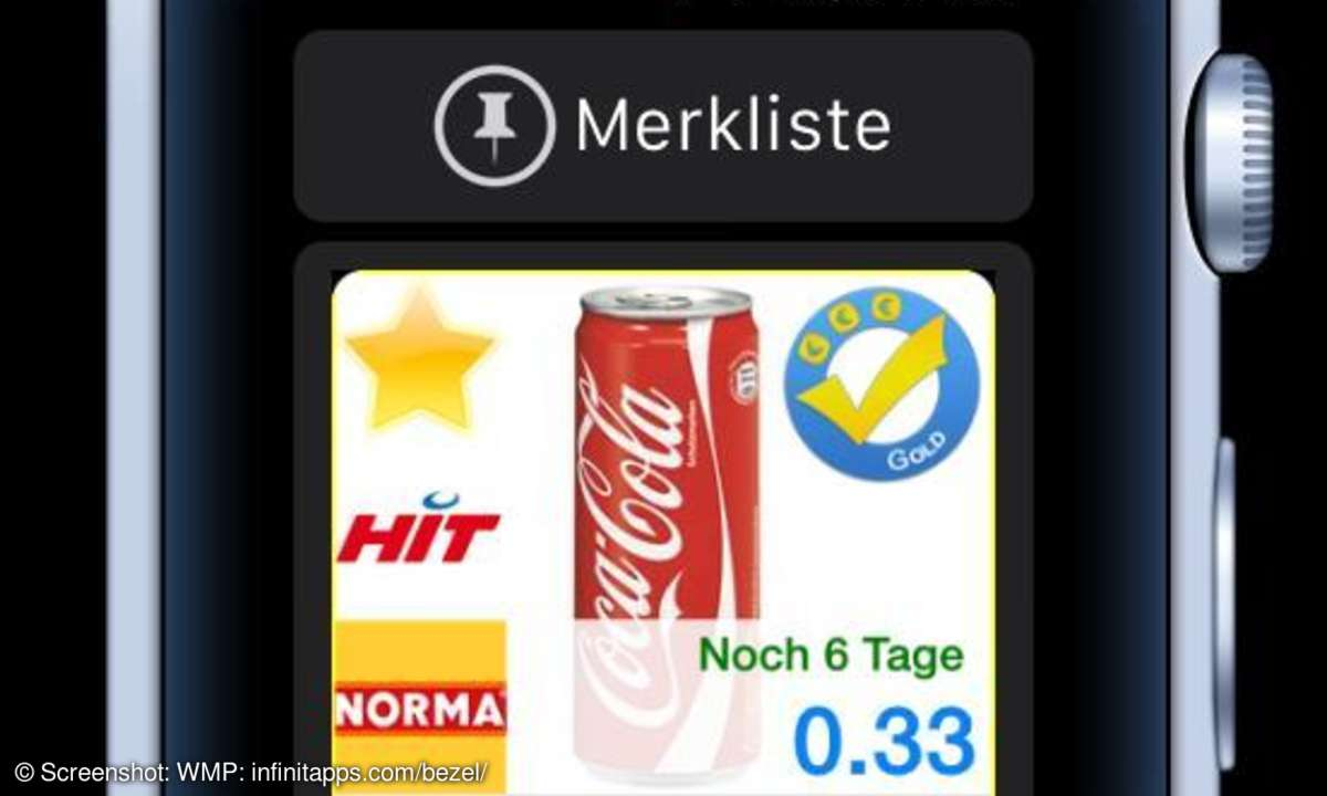 YouPickIt-Merkliste auf Apple Watch