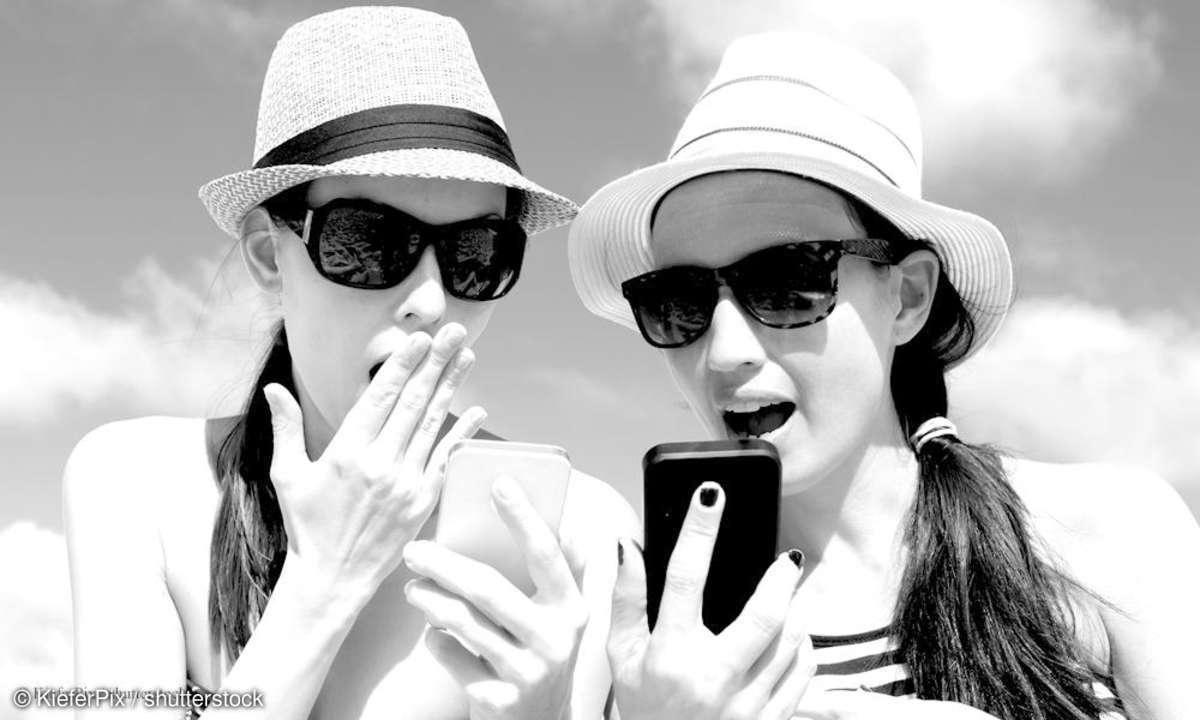 Mit dem Smartphone im Urlaub