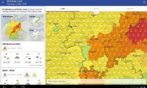 WarnWetter App vom Deutschen Wetterdienst