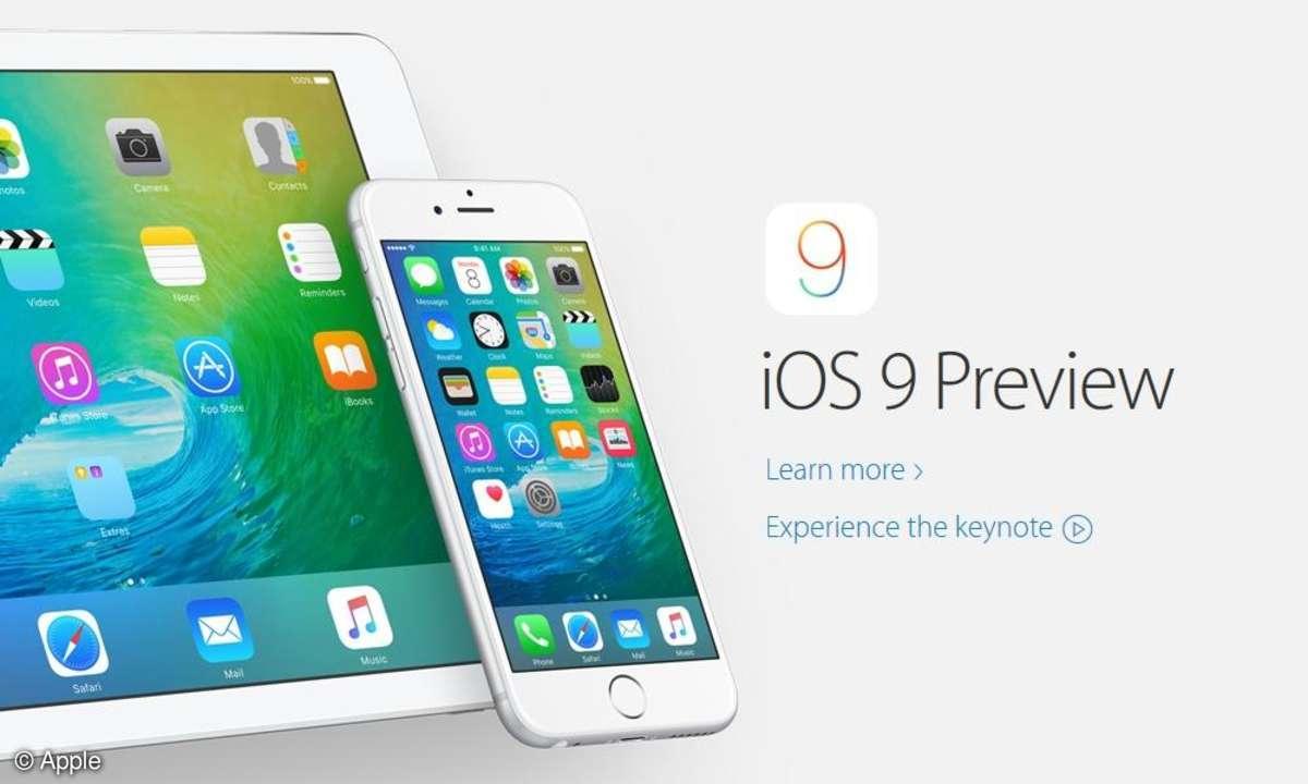 Screenshot: Apple iOS 9 Preview