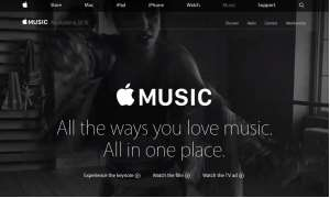 Screenshot: www.apple.com/music