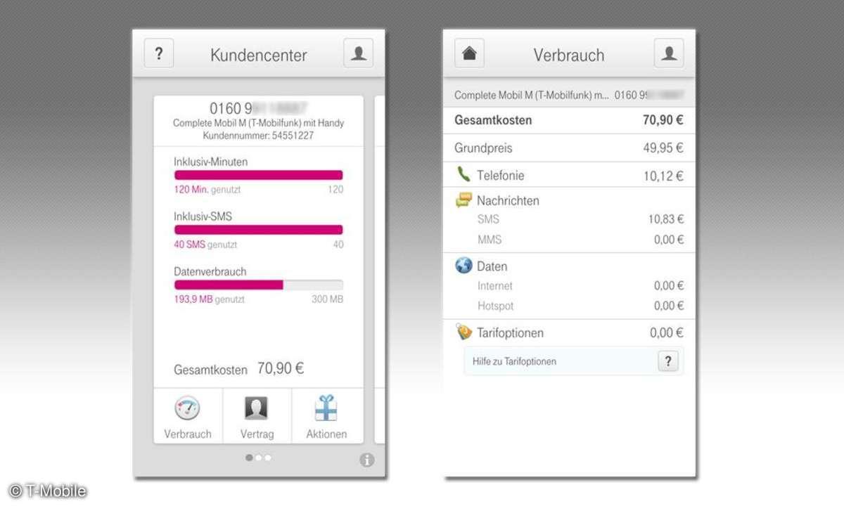 Kundencenter App T-Mobile