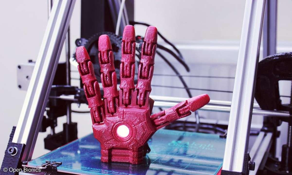 Maßgeschneiderte Prothesen aus dem 3D-Drucker von Open Bionics.