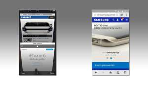 Samsung Browser und Apple Browser