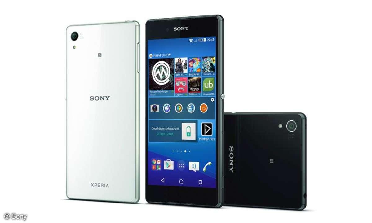 Sony Xperia Z3+ schwarz und weiß