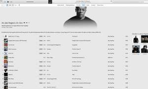 """iTunes-Screenshot: """"An den Reglern: Dr. Dre"""""""