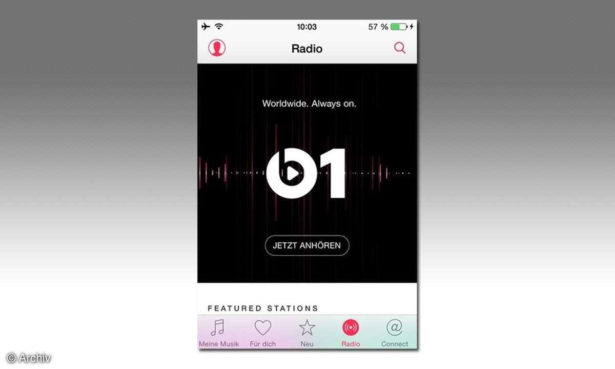 iPhone-Screenshot: Beats 1 Radio
