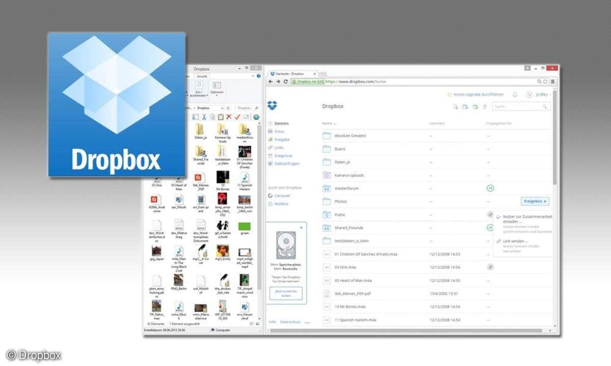 Dropbox Cloudspeicher