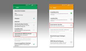 MMS Download deaktivieren Android