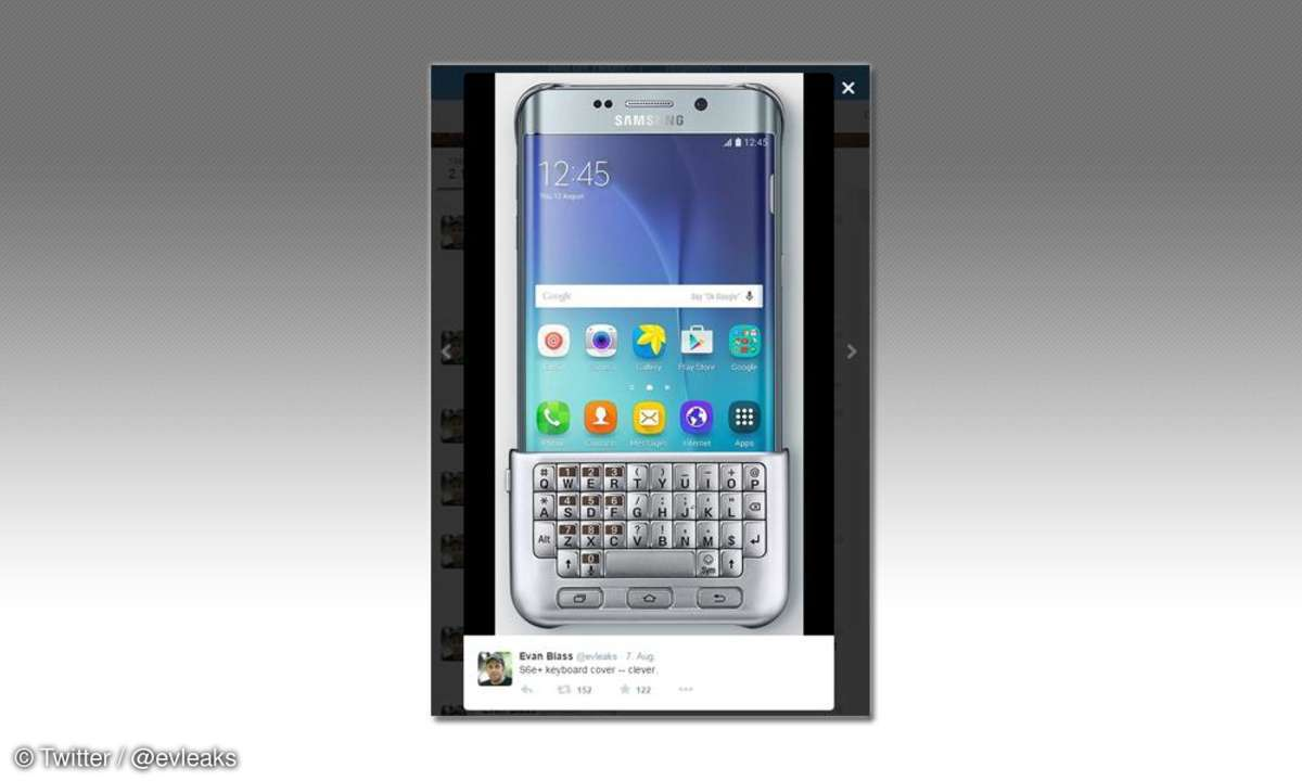 Samsung Galaxy S6 Edge Plus mit Keyboard-Cover