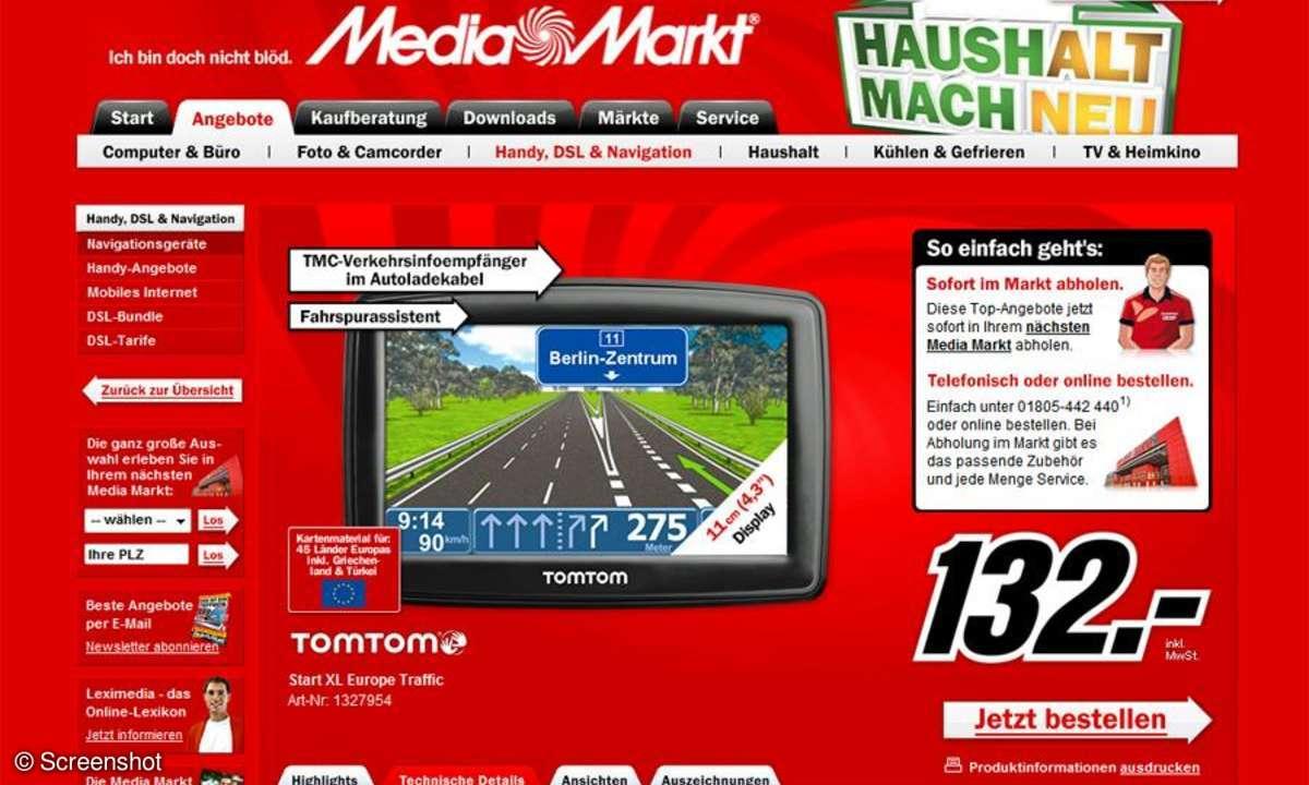 Die Navi-Aktionsangebote vom MediaMarkt KW 14 kommen