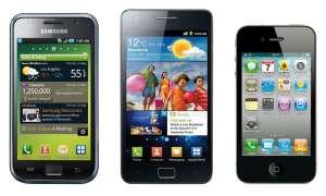 iPhone 4, Galaxy S2, Galaxy S