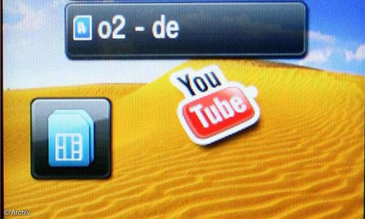 Standbybildschirm des Samsung GT-B7722i