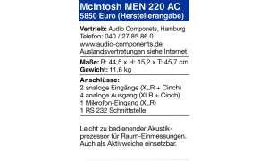 McIntosh MEN 220