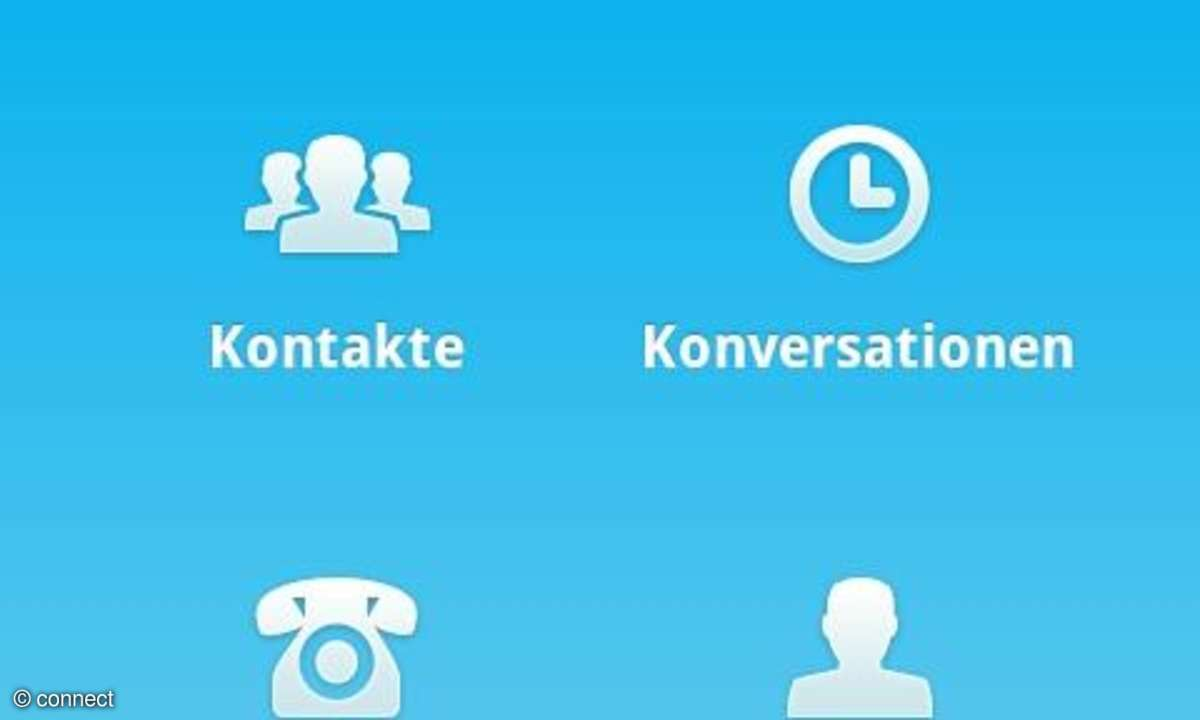 Skype-App für Android