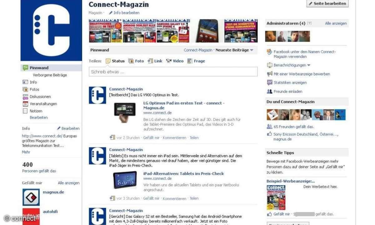 connect auf Facebook