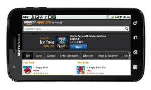 Der Amazon Appstore auf dem Motorola Atrix 4G