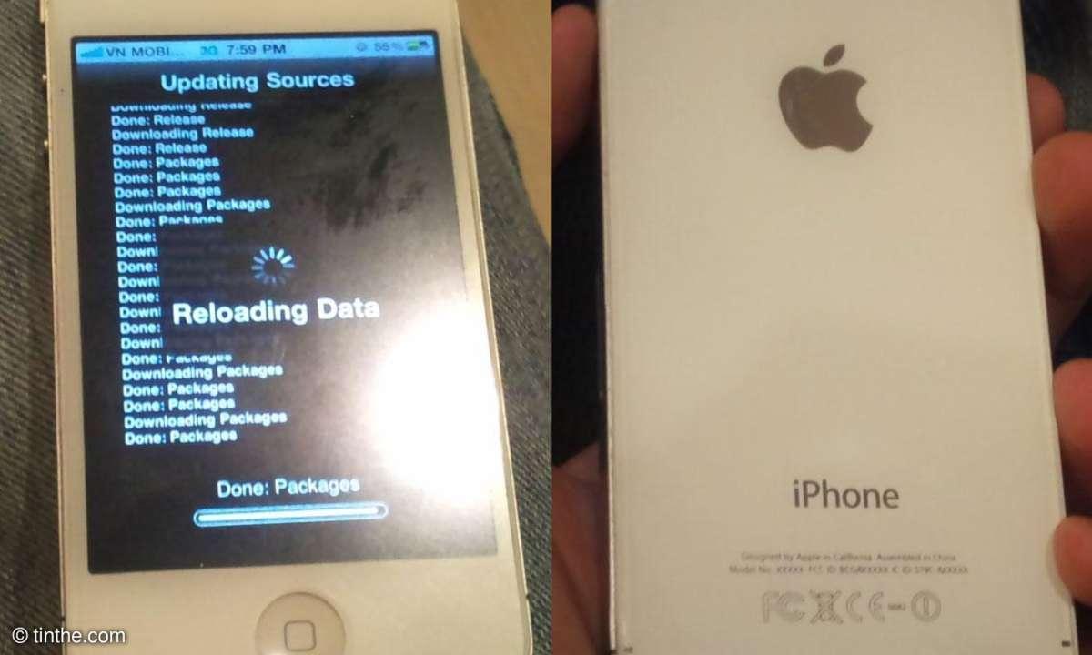 Das Foto zeigt angeblich ein iPhone 4S mit Kunststoffgehäuse