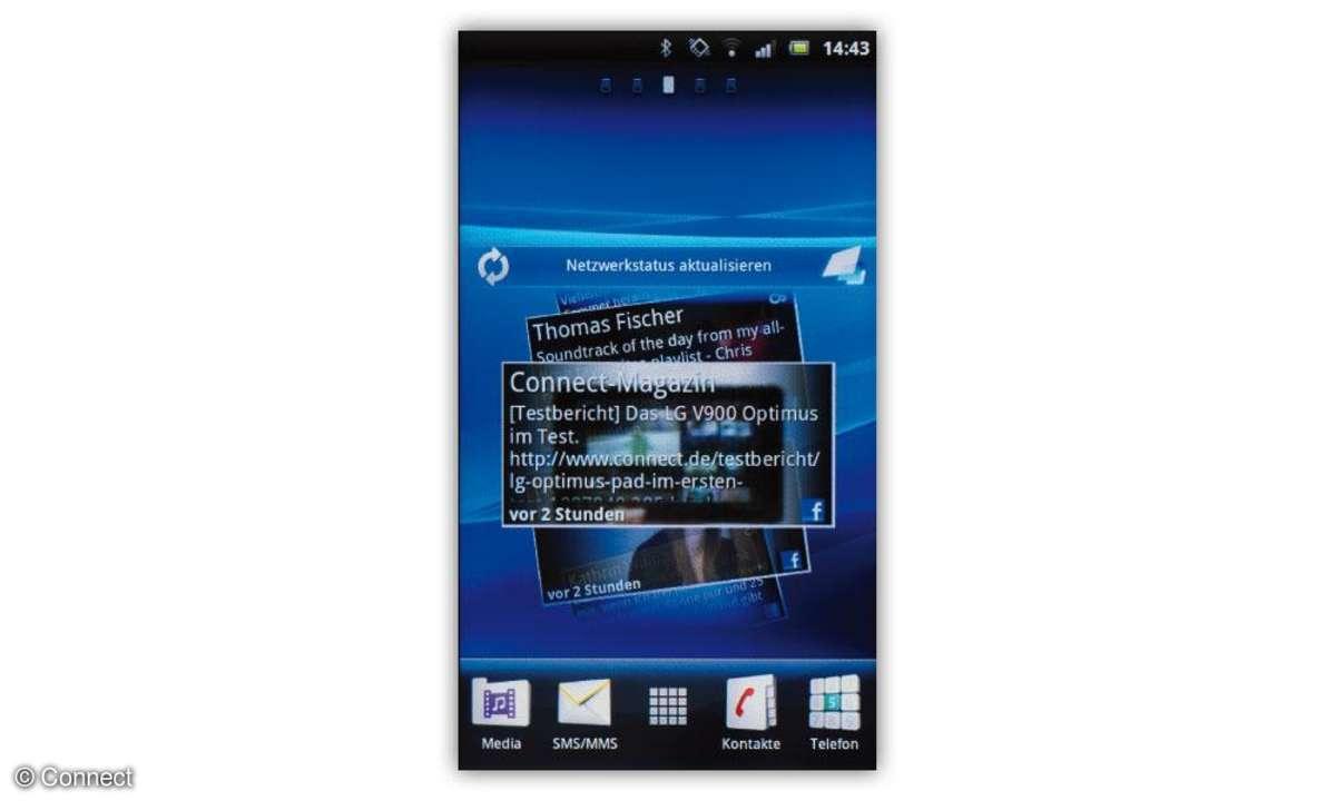Timescape-Oberfläche auf dem Sony Ericsson Xperia Neo
