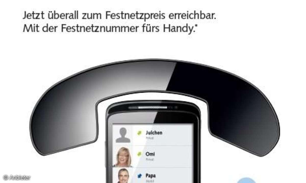 Base bringt Festnetzrufnummer fürs Handy