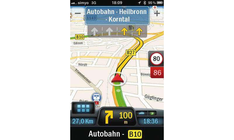 ALK Copilot Live Premium für das iPhone im Test