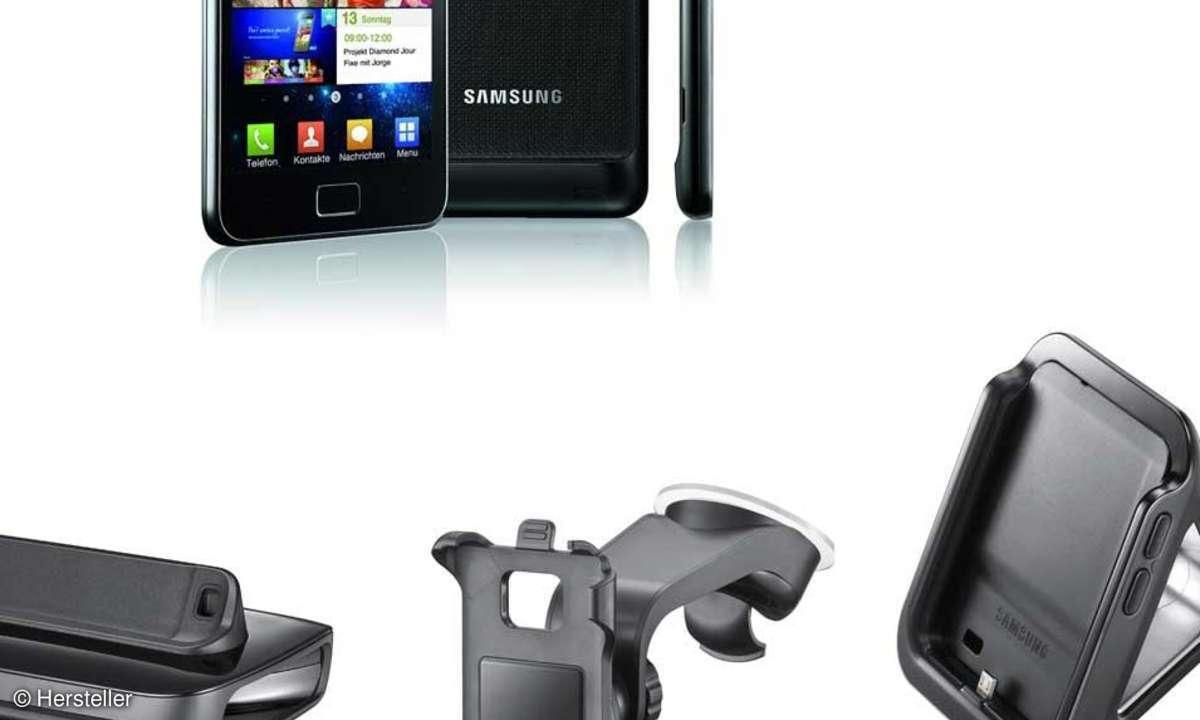 Samsung Galaxy S2 mit Zubehör