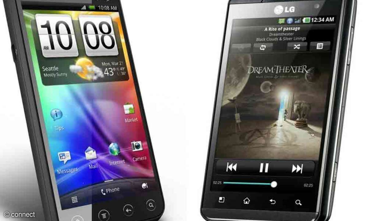 LG Optimus 3D und HTC Evo 3D