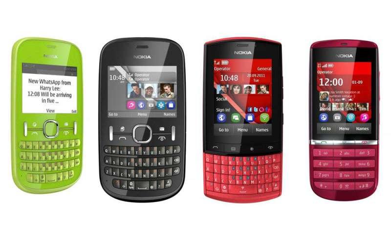 nokia asha vier neue einfach handys mit symbian connect. Black Bedroom Furniture Sets. Home Design Ideas