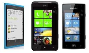 Nokia Lumia 800, HTC Titan und Samsung Galaxy W