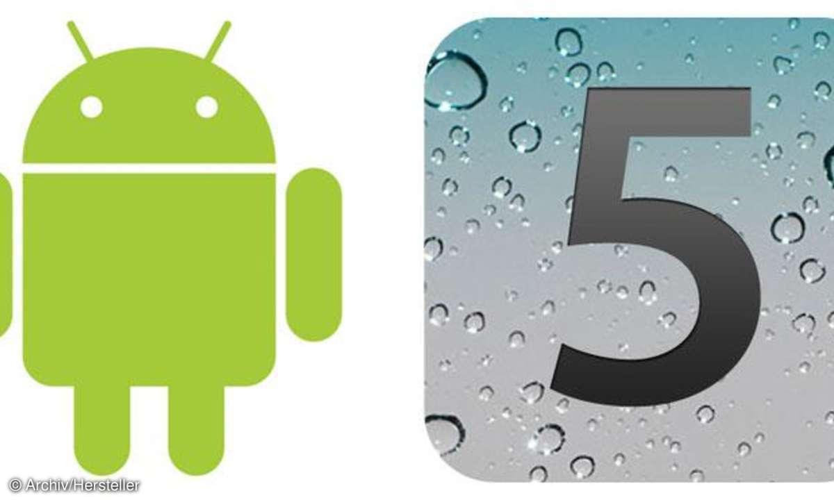 Android 4 und iOS 5 im Vergleich